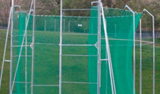 Throwing hammer safety cage netting.