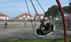 Hanging Bucket Playground Swing