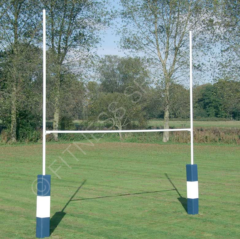 7m Hinged HD Steel Rugby Goalposts