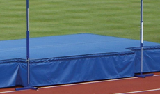 High impact high jump safety mat system.
