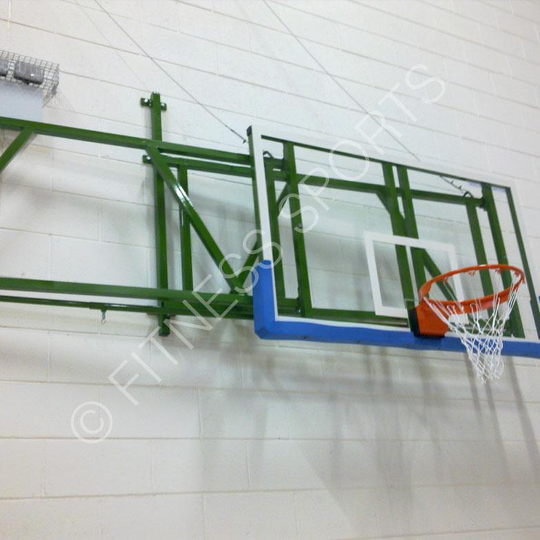 Extending Acrylic Wall Mounted Indoor Basketball Net Goal Hoops ...