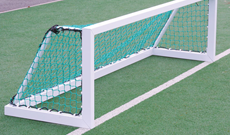 Freestanding steel hockey mini target goalposts.