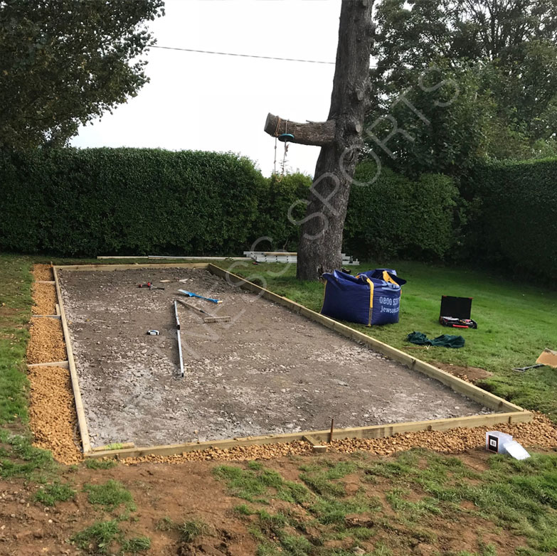 Residential cricket practice area installation fitness