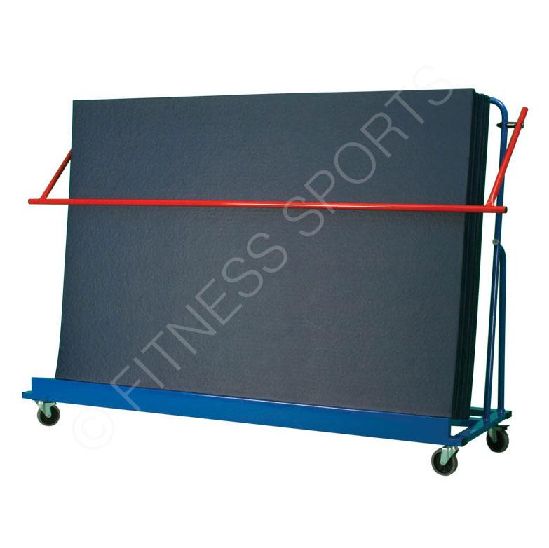 Incline Safety Mat Storage Trolley. Gymnasium Matting