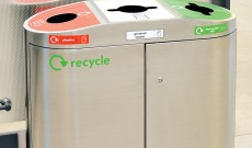 Indoor recycling bins & stations.