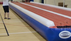 High impact PE inflatable impact safety mattress.