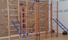 Quwatol Islam Junior School Wooden Wall Mounted Climbing & Activity PE Frames