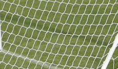 Junior 6.4m x 2.1m match replacement goal netting.