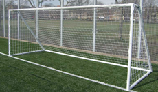 Galvanised junior freestanding mini goals.