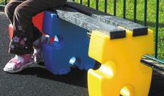Junior Jigsaw Playground Bench
