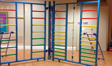Spectrum wooden school PE wall frames.