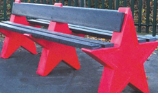 Junior Star Playground Bench
