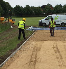 Long jump pit installation