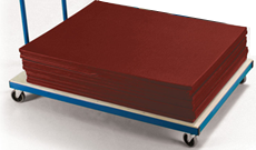 Gym mat trolleys