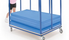 Gym mat trolleys