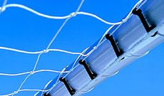 180 Black plastic goal netting attachment clips