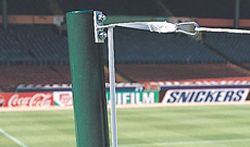 Stadium socketed goal net support post FBL-539.