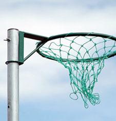 Freestanding Steel Netball Goal Post