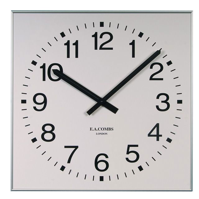 "Large 33"" Square Gym Wall Clock"