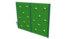 Outdoor adventure trail steel fixed climbing walls.