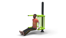 Outdoor Exercise Dipping Bench
