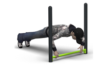 Outdoor Single Push Up Bar