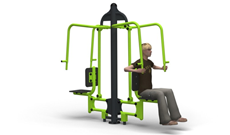 Outdoor Gymnasium Twin Push Up