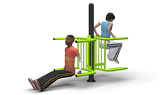 Outdoor Gymnasium Twin Dip Bars
