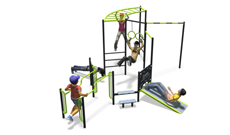 Outdoor Gymnasium Fitness Station