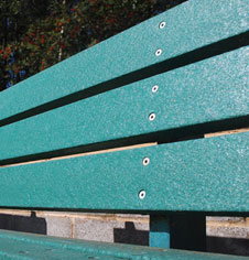 Wooden Public Seating Bench