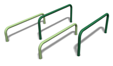 Outdoor adventure trail steel fixed jumping bars.