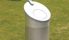 Conti bourbon stainless steel litter bin.