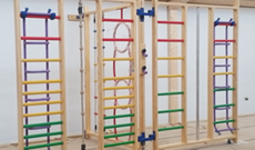 Parsons Green school wooden wall mounted PE frames supply & installation.
