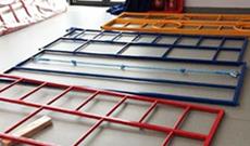 Wall climbing frame parts