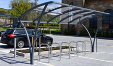 Perspex Bicycle Rack Canopy