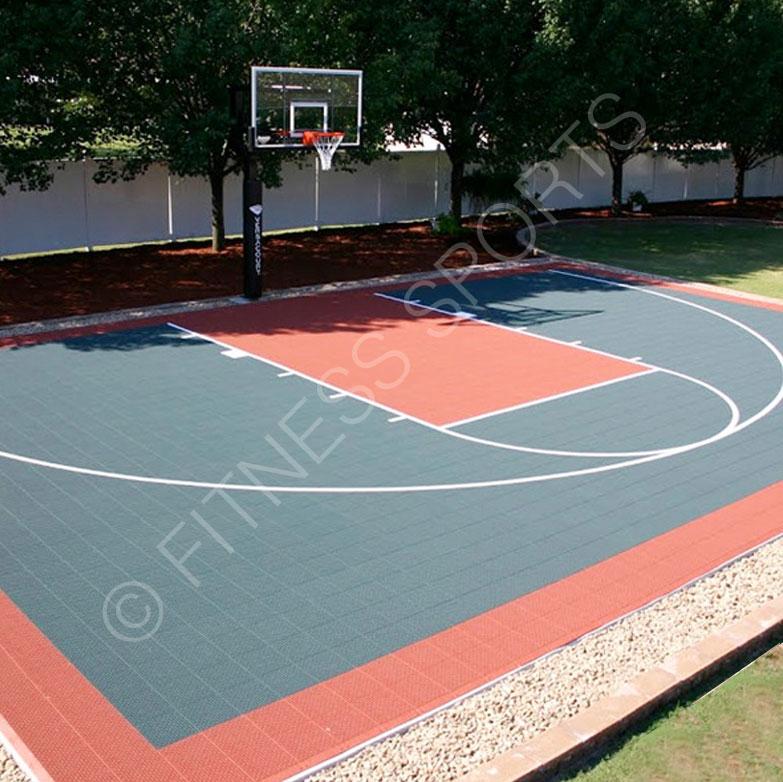 Clix Outdoor Tiled Basketball Practice Court Design