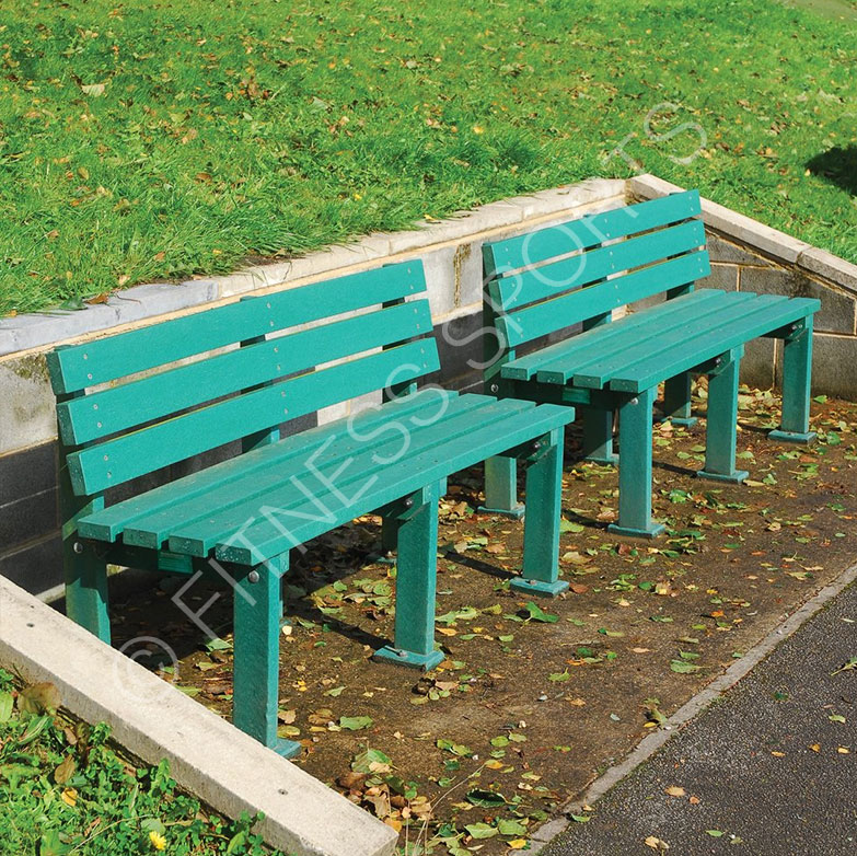 Outdoor pvc recycled plastic seating bench fitness for Outdoor plastic bench seats
