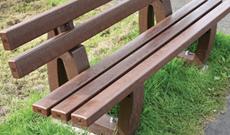 Plastic park seat bench