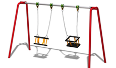 Traditional steel playground equipment