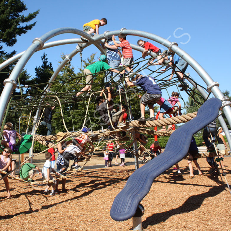 Steel outdoor adventure playground equipment