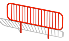 Outdoor adventure trail steel fixed safety barrier.