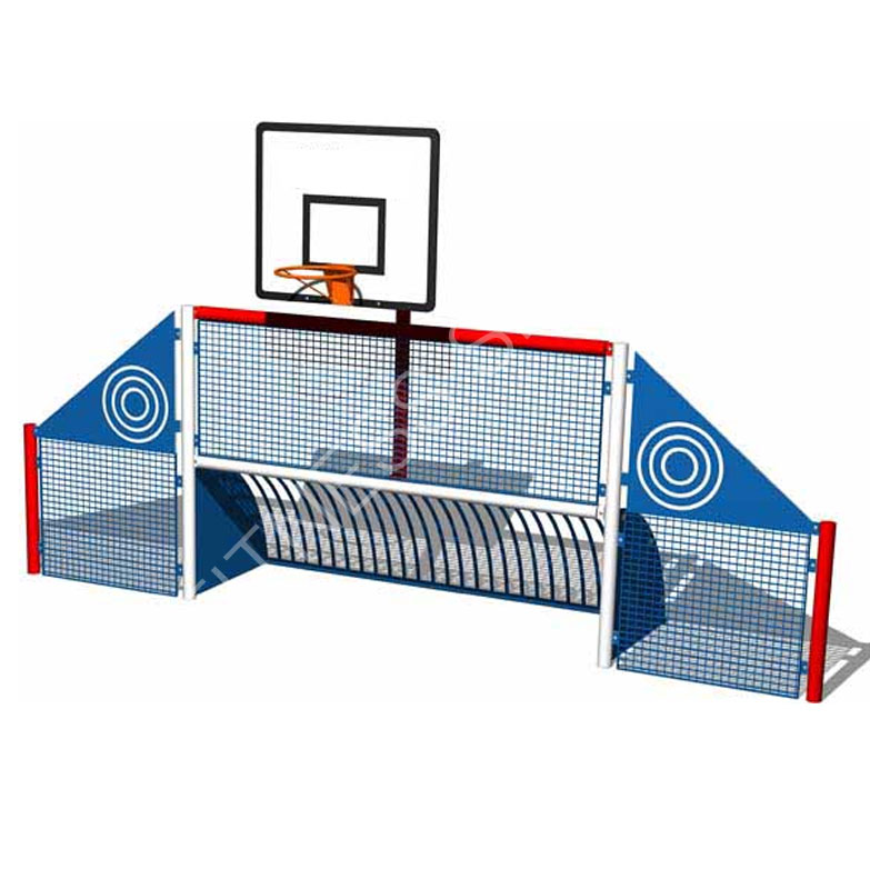 Steel In Ground Basketball Amp Football Goals Combination
