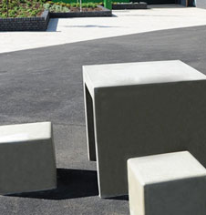 Concrete Seating Table Areas
