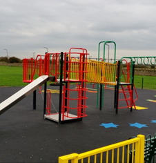 Steel playground equipment