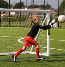 Garden Soccer Fun Goals & PVC Plastic Moulded Football Goalposts