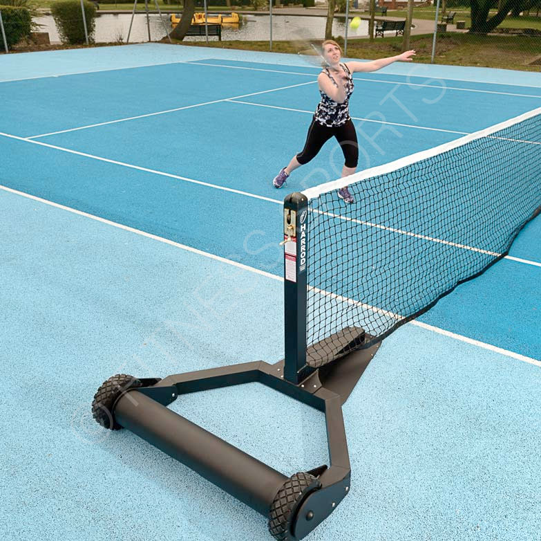 Portable Freestanding Steel Tennis Net Posts Fitness