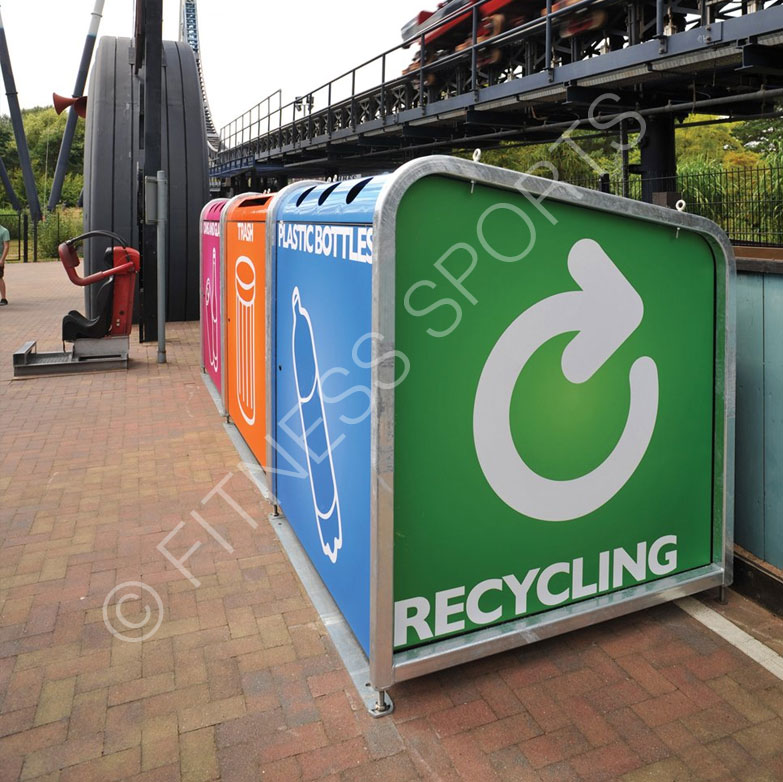 Public use recycling bins