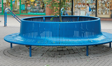 Steel Public Seating Area