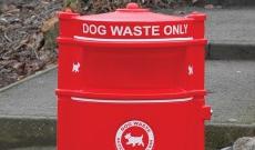 Municipal PVC parks dog waste bin.