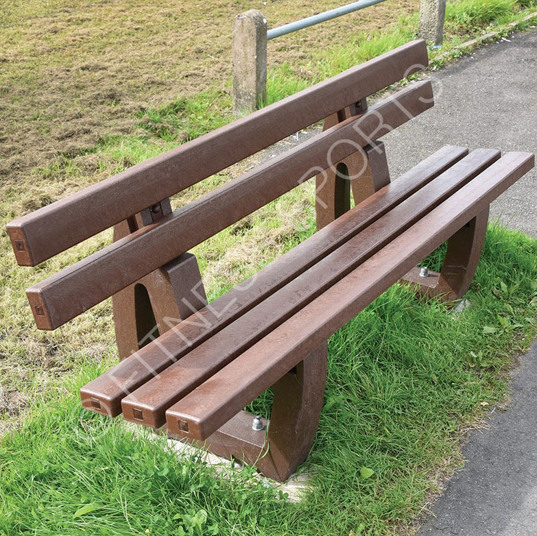 Outdoor Recycled Plastic Classic Park Seating Bench Fitness Sports